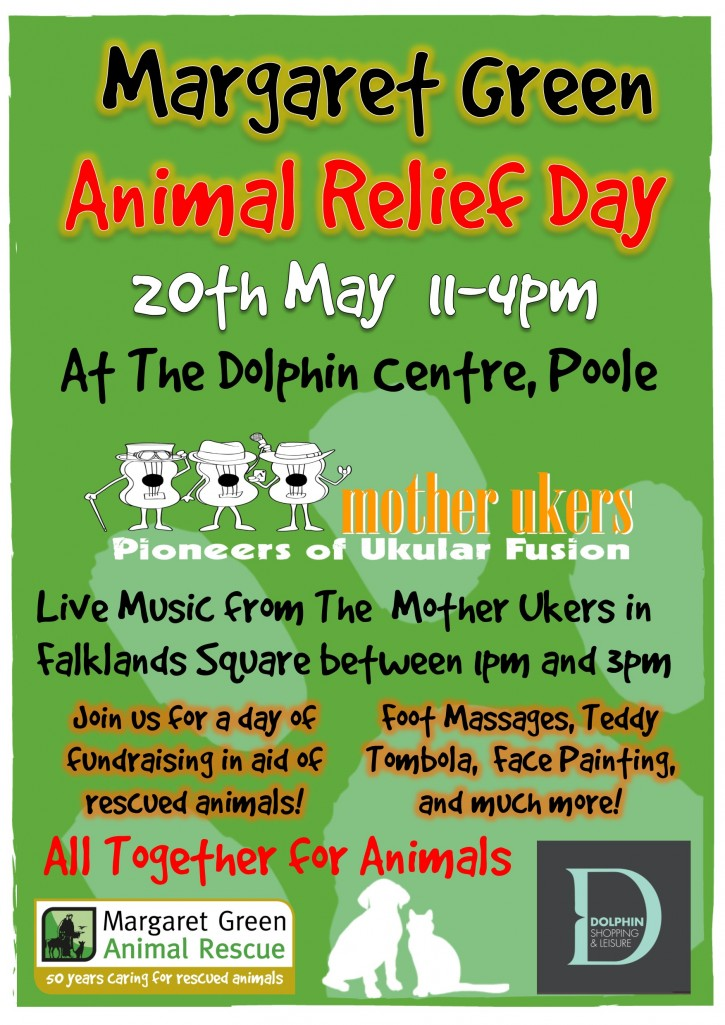 Margaret Green Animal Relief  Day 2015 Poster DOLPHIN CENTRE
